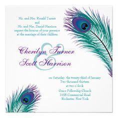 Cheap Peacock Wedding Invitations Premium Invitation Template