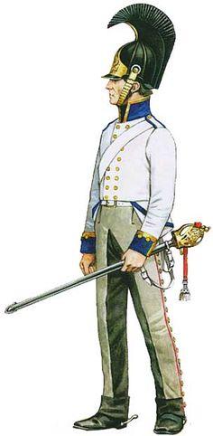 Униформа унтер-офицера Бранденбургского кирасирского полка (№4), 1813 - Uniforms NCO Brandenburg Cuirassier Regiment (№4), 1813