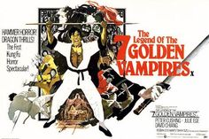The Legend of the Seven Golden Vampires by Arnaldo Putzu Framed Vintage Advertisement Magnolia Box Size: Extra Large Hammer Horror Films, Hammer Films, Horror Movies, Zombie Movies, Horror Posters, Film Posters, Kung Fu, Dracula Film, Painting Prints