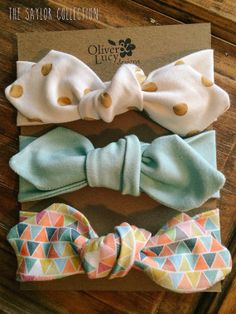 Saylor Collection Organic Jersey Headband by oliverandlucydesigns, $25.00
