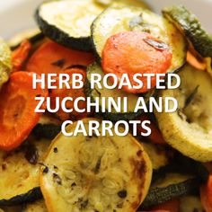Break out the veggies and whip up some lovely Herb Roasted Zucchini and Carrots! The cooking time adds to its flavor. Click the video for the full recipe. Roast Zucchini And Carrots, Carrot Zucchini Recipe, Carrot Recipes, Vegetable Recipes, Vegetarian Recipes, Cooking Recipes, Healthy Recipes, Roasted Zucchini Recipes, Cooking Videos