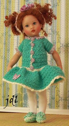 Hand Crochet for Riley Kish by JDL Doll Clothes Doll Artist Helen Kish Doll Clothes by jdldollclothes.com