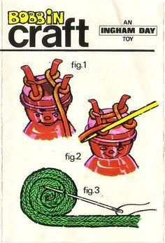 French knitting how to Zo werkte punniken. Loom Knitting Stitches, Spool Knitting, Knifty Knitter, Knitting Blogs, Vintage Knitting, French Knitting Ideas, Loom Patterns, Crochet Patterns, Round Loom