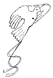 DOVE KITE - ORIGINAL INSTRUCTIONS FOR MAKING - via AUSTRALIAN JOEY SCOUTS -  for A4 paper size = 210 x 297 mm	= 8.3 x 11.7 in