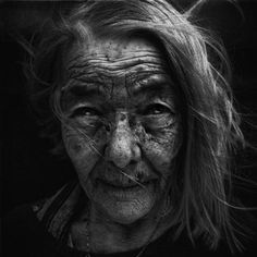 Homeless woman byLee Jeffries
