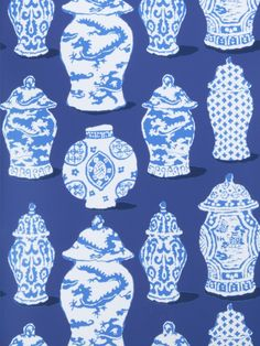 Stroheim Canton Cobalt Blue 4788101 Dana Gibson Wallcovering Collection