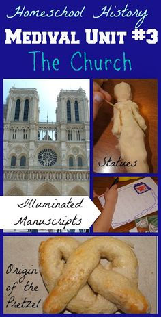 Medieval History for Kids - Illuminated Manuscripts, Medieval Statues, Origin of the Pretzel, and so much more for K-6th grade (homeschool)