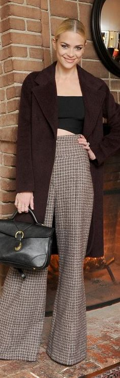 Jamie King: Jacket and top = Alexander Wang Pants – Chanel Shoes – Versace Jewelry – Jennifer Fisher Purse – Ghurka