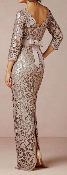 Elegant Back Tie Gown