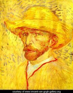 Autoportrait au chapeau de paille 1 1887 - Vincent Van Gogh - www.vincent-van-gogh-gallery.org