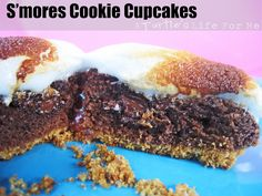 S'mores Cookie Cupcake recipe by A Turtles Life for Me