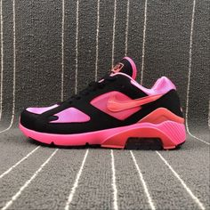 Buy Unisex Nike Air Max 180 Pink Black Nike Air Max 180 UK in the shop.We guarantee that the shoes you buy are authentic, and we also offer you free home delivery. Air Max Sneakers, Sneakers Nike, Air Max 180, Unisex, Nike Air Max, Pink Black, Stuff To Buy, Shoes, Fashion
