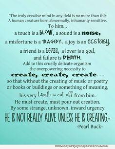 Lovely description of creative mind