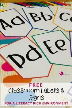 Learning in a Literacy Rich Environment Alphabet Activities, Hands On Activities, Literacy Activities, Free Activities, Educational Activities, Teaching Resources, Classroom Calendar, Kids Calendar, Kindergarten Classroom