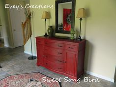 A buffet finished in Emperor's Silk Chalk Paint® decorative paint by Annie Sloan | By Sweet Song Bird