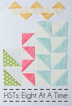 Half-Square Triangle Tutorial: 8 At A Time - great tutorial from Blossom Heart Quilts xxx