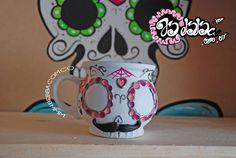 mug catrina mustache