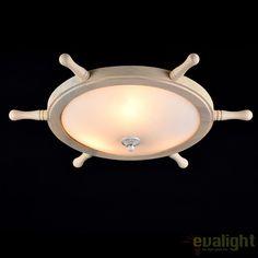 Plafoniera design rustic Frigate alba MY624-03-W - Corpuri de iluminat, lustre, aplice
