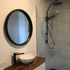 Loving the recycled railway sleepers for a vanity top. Complimented with a wooden mirror from @adairs and our beautiful black Tapware #phoenixtapware #oldhouselove #oldhome #photooftheday #picoftheday #beach #beachhouse #beachinspired #dream #dreamhouse #modernbeachhouse #holidayvibes #nsw #southofsydney #coalcoast #coalcoastlife #dreamer by coalcoastdreaming #modernbeach