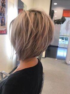 99 Dreamy Asymmetrical Bob Hairstyles Ideas That Looks Cool Bob Style Haircuts, Asymmetrical Bob Haircuts, Stacked Bob Hairstyles, Long Bob Hairstyles, Short Hairstyles For Women, Bridal Hairstyles, Short Hair Cuts, Short Hair Styles, Pixie Cuts