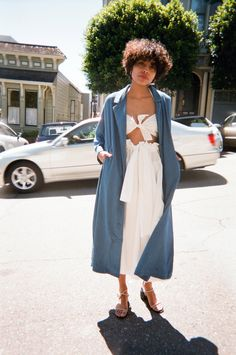 "Rachel Comey's loose and light-weight trench will be your best outfit  addition throughout spring and beyond. 55% Cotton, 42% rayon, 3% poly  stretch. Machine wash cold, tumble dry low or line dry. Oversized fit. 52""  in length from shoulder.Made in USAQuestions about this product? Email  hello@lisasaysgah.com, call us 415.757.0995 or DM us on Instagram. We're  here for you!"