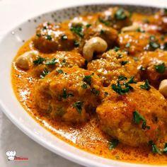 Indian Meatballs Cookeo Recipe - Mimi Cuisine - I - Gnocchi Rezept Vegan Vegetarian Recipes Dinner, Healthy Breakfast Recipes, Meat Recipes, Healthy Dinner Recipes, Indian Food Recipes, Asian Recipes, Vegetarian Meatballs, Vegetarian Food, Easy Healthy Dinners
