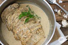 Pork Loin with Garlic & Wine Cream Sauce - Wildtree Recipes  http://mywildtree.com/traceylexvold