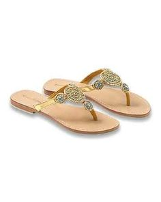 Tommy Bahama - Turquoise and Gold Flat Sandals