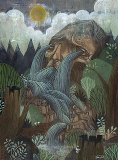 Sean Talamini is an artist living and working in Philadelphia. Sean draws fantastic, nature inspired scenes on wood and paints them in oil and acrylic.