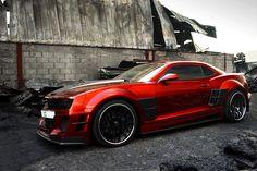 "Chevy Camaro ""Guyver"" widebody kit designed by Chrome & Carbon, Dubai"