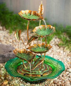 Lilly Pad Fountain #zulily #zulilyfinds