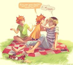 Haikyuu!! | I don't ship this but I thought it was pretty cute