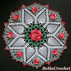 BellaCrochet: Dorothy's Roses Doily: A Free Crochet Pattern for You