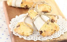 Golden Cloud Double Chocolate and Banana Scones