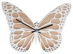 Zegar-Motyl Drewniany