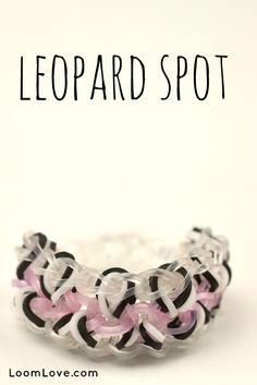 How to Make a Rainbow Loom Leopard Spot Bracelet