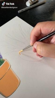 Canvas Painting Tutorials, Diy Canvas Art, Diy Painting, Small Canvas Art, Art Drawings Sketches Simple, Pencil Art Drawings, Cool Paintings, Simple Canvas Paintings, Art Tutorials