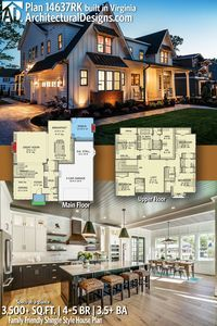 Architectural Designs House Plan 14637RK client-built in Virginia by our friends at River City Custom Homes! | 4 - 5 BR | 4.5+ BA | 3,500+ sq. ft.| Ready when you are. Where do YOU want to build? #14637RK #adhouseplans #architecturaldesigns #houseplan #architecture #newhome #newconstruction #newhouse #homedesign #dreamhome #dreamhouse #homeplan #architecture #architect #housegoals #Shinglestyle #shinglehouse #traditional #modernfarmhouse #clientbuilt #client