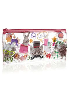 Crazy Pets Long Clear Pencil Case Clear Pencil Case, Stationery, Pets, Accessories, Paper Mill, Stationery Set, Office Supplies, Animals And Pets, Jewelry Accessories