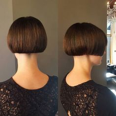 Love, love, love doing this cut for Thank you for letting me take clippers to your beautiful locks! Undercut Hairstyles, Short Hairstyles For Women, Girl Hairstyles, Short Hair Cuts, Short Hair Styles, Buzz Cut Women, Bowl Haircuts, Angled Bobs, Shaved Nape