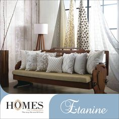 An eclectic blend of embroidery, patterns and soothing colours on your furnishings will add magic to your interiors. Explore more @ www.homesfurnishings.com #HomesFurnishings #HomeDecor #HomeInterior #Cushions #Curtains #Draperies #Upholstery #Embroidery #Colours #Furnishings #Interiors