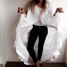"""Monochrome...#bakchic #kaftan #white #fashion #love"" Photo taken by @bakchic_thelabel on Instagram"