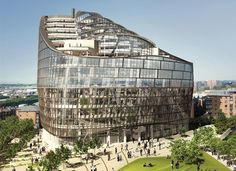 In light of World Green Building Week we have put together a roundup of five of the greenest buildings in the world. Architecture Office, Sustainable Architecture, Sustainable Design, Architecture Design, Contemporary Architecture, Eco Buildings, Unusual Buildings, Interesting Buildings, Building Structure