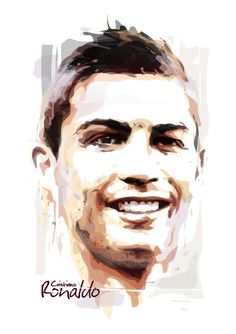 CR7 watercolor vector Superstar Football, World Best Football Player, Ronaldo Real Madrid, Cristiano Ronaldo Cr7, James Rodriguez, Gareth Bale, Clay Art, Game Art, Vector Art