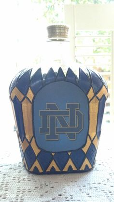 University of Notre Dame Crown Royal Whisky by PattiesPassion, $65.99