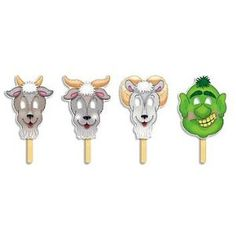 The Three Billy Goats Gruff masks
