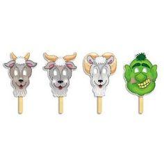 The Three Billy Goats Gruff masks