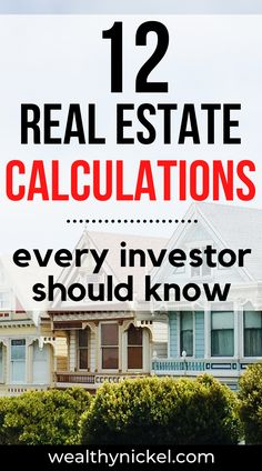 Here are the 12 real estate investing calculations every investor needs to know before purchasing a property. How to calculate NOI, IRR, Cap Rate, and more! Real estate investors, use these before buying rental property. Property Investor, Investment Property, Rental Property, Real Estate Articles, Real Estate Information, Real Estate Buyers, Real Estate Investor, Where To Invest, Mortgage Tips