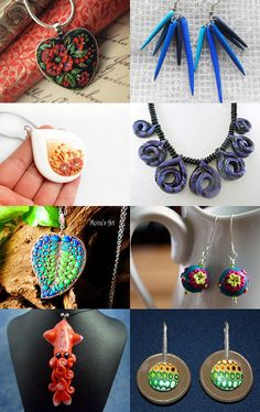 Cool Polymer Clay Jewelry by Ali on Etsy--Pinned with TreasuryPin.com