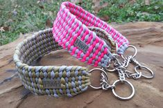 """Custom 2"""" Wide Paracord Dog Collar by ClubSavage on Etsy"""